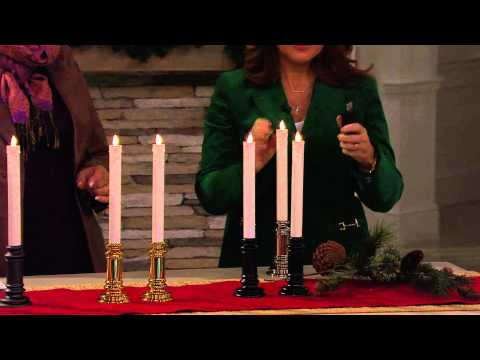 Luminara Set of 2 Dual-Powered Flameless Taper Candles with Carolyn Gracie