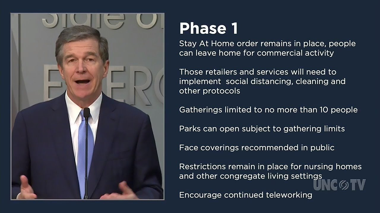 NC Gov. Roy Cooper outlines 3 phases the state is implementing to ...