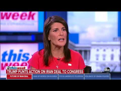 Haley: Trump's goal is to not let Iran become the 'next North Korea'