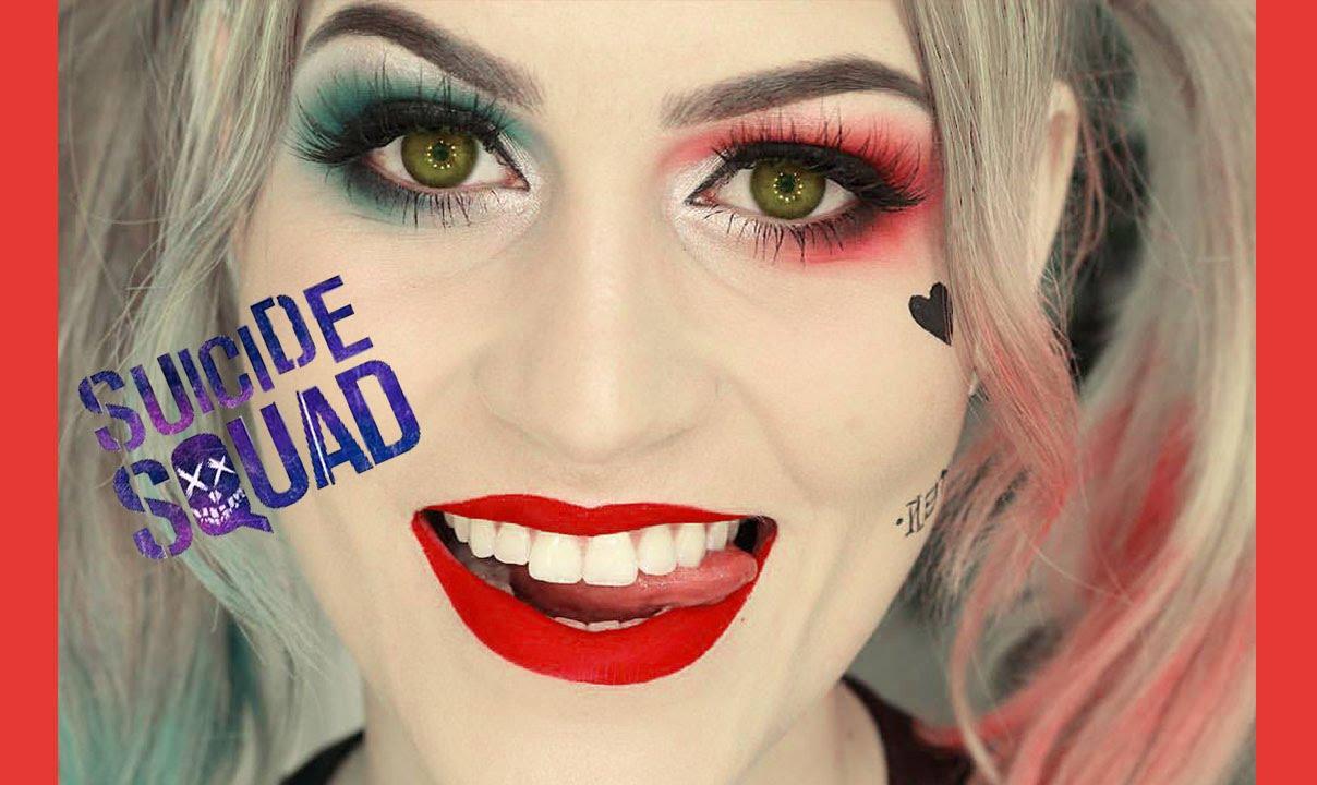 1f342ce85 Arlequina - Esquadrão Suicida - Maquiagem e Cabelo colorido - YouTube