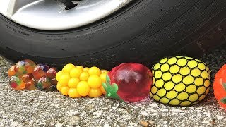 Crushing Crunchy and Soft Things by Car! ASMR - Antistress Balls and Orbeez