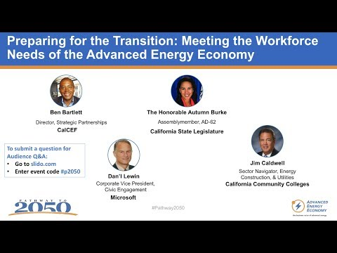 Workforce Development & Advanced Energy panel