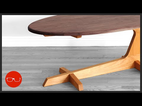 Mid Century Modern Cantilever Coffee Table Build | Woodworking