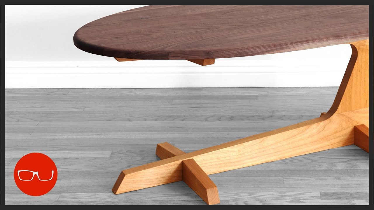 mid century modern cantilever coffee table build woodworking