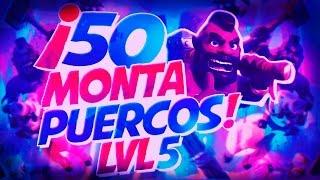 Atacando con MontaPuercos nivel 5 | Super EPICO | Clash of Clans en español