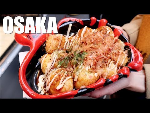OSAKA Food Tour - Dotonbori Eating Street!