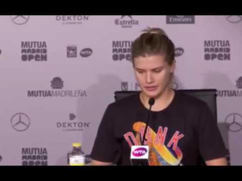 Genie Bouchard Press Conference - After Match vs Sharapova - Madrid 2017