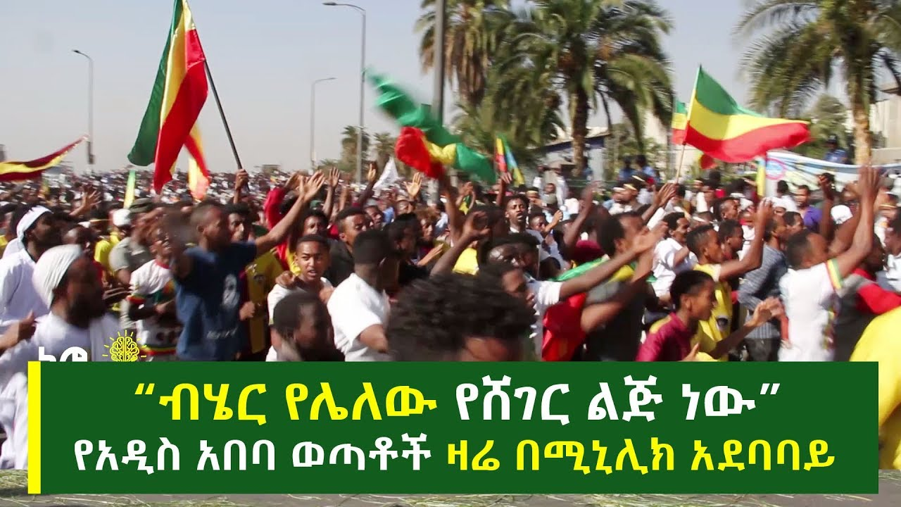 Rally By Youths Of Addis Ababa