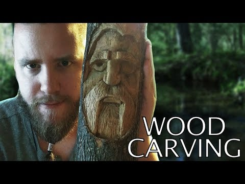 Wood Carving a Greater Tree Spirit - Odin