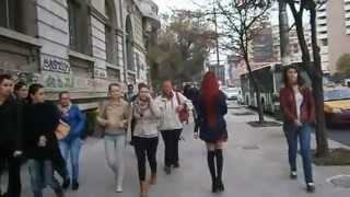 Anastasiya Shpagina in the street - She is a very cute Anime Girl