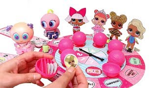 Board Game Time ! Toys and Dolls Fun for Kids with LOL Surprise Board Game & Blind Bag Balls | SWTAD