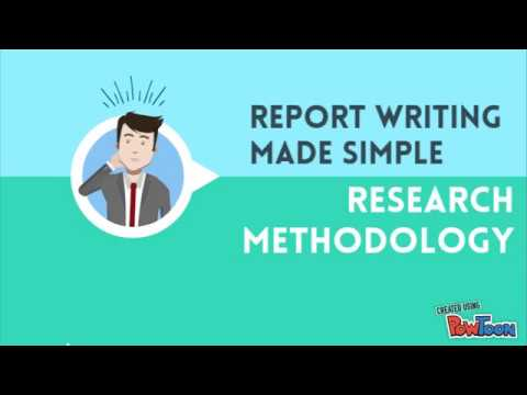 report writing in research methodology