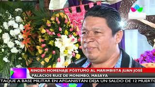 Multinoticias | Rinden homenaje póstumo al marimbista Juan José Palacios de Monimbó, Masaya