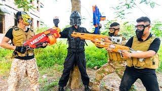 Nerf War: Special Force SWAT Nerf Guns Mafia Group Big Nerf Mask Battle