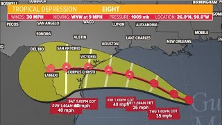 Gulf weather update: Tropical Storm Watch in effect from Galveston County down to Willacy County