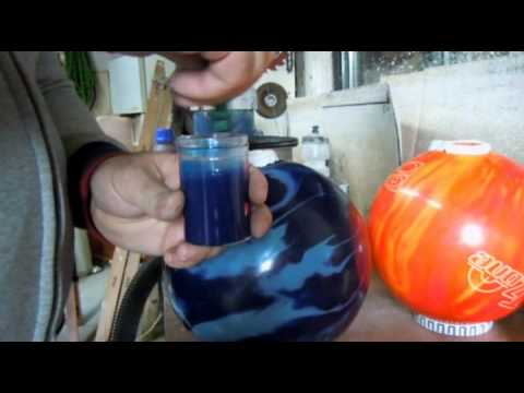 Plug Bowling ball DIY at home with Epoz epoxy resin