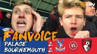 Begovic saves Benteke's late penalty in a 2-2 thriller! | Palace 2-2 Bournemouth | 90min Fanvoice