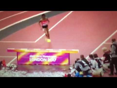 Beatrice Chepkoech epic fail 3000m Steeplechase Women IAAF World Champs London 2017