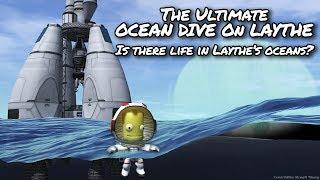 KSP Laythe Ocean Dive and Floating Base (Tutorial:54) Kerbal Space Program 1.2 - Stock Parts