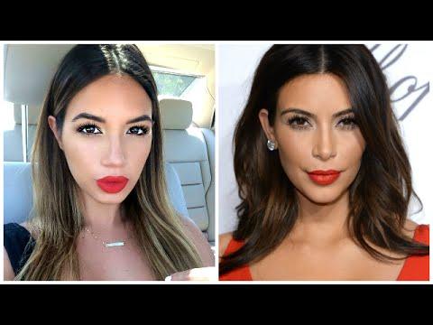 Kim Kardashian Makeup Tutorial & Red lip  #Trend