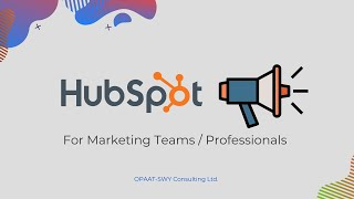 HubSpot for Marketing Departments / Professionals