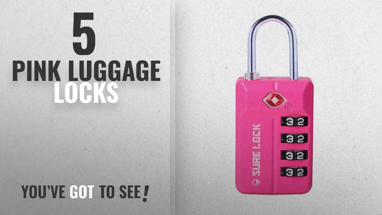 Luggage Lock Tsa Pink