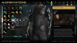 Deus Ex: Mankind Divided Augmentations Skill Tree