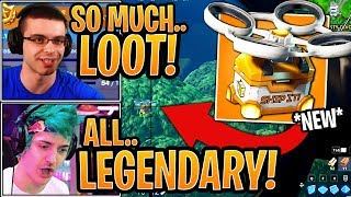 Streamers First Time Using *NEW* Supply Drops & Landing Hot Spots! - Fortnite Moments