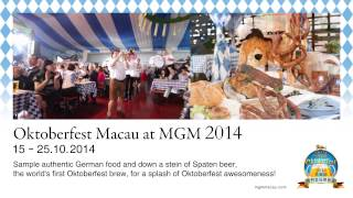 "狂歡美高梅澳門德國啤酒節 Say ""Prost!"" to Oktoberfest MACAU at MGM"