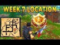 """Follow the treasure map found in Pleasant Park"" Location Fortnite Week 7 Challenges!"