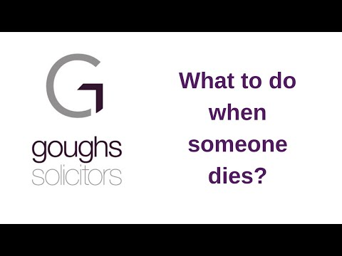 What to do when someone dies?