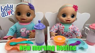 Baby Alive Real as can be baby Morning Routine