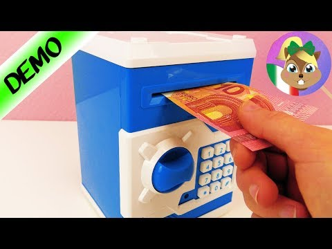 Distributore soldi per casa - mangia le banconote - salvadanaio elettronico per camera bimbi