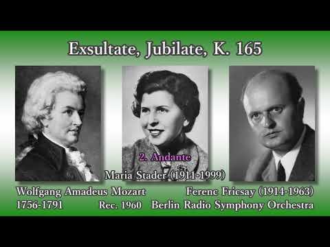 Mozart: Exsultate jubilate, Stader & Fricsay (1960) モーツァルト エクスルターテ・ユビラーテ シュターダー&フリッチャイ