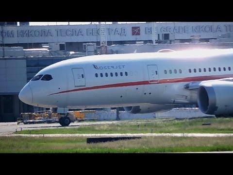Deer Jet Boeing 787-8 Dreamliner Takeoff From Belgrade Airport