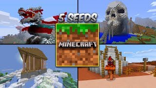 TOP 5 SEEDS SECRETAS DA NOVA VERSÃO DO MINECRAFT PE !! (Pocket Edition)
