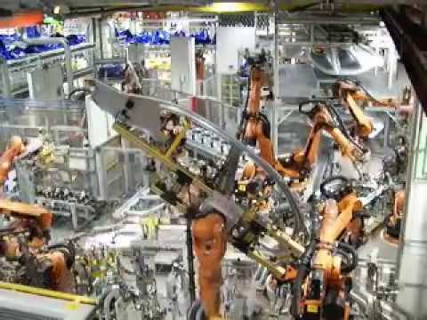 BMW assembly plant footage