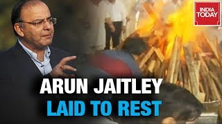 Arun Jaitley Cremated With Full State Honours At Nigambodh Ghat | Watch Full Video