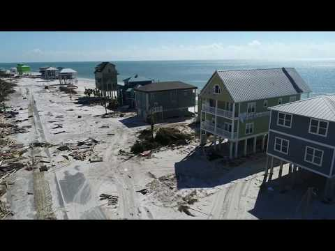 Cape San Blas Florida drone video 96 hours after hurricane Michael