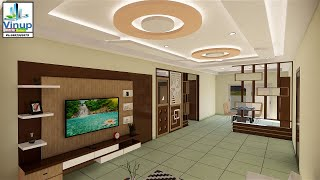 3BHK Interior Design MY HOME AVATAR GACHIBOWLI Bedroom wardrobes kitchen Living room ceiling