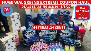 Huge Walgreens Extreme Coupon Haul Deals Starting 8 2 64 Items Only 24 Cents Jaw Dropping Deals Youtube