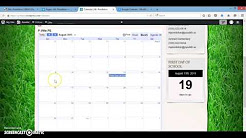 Creating a Calendar and adding Upcoming Events Widget (video #6)