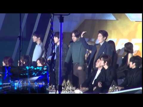 WINNER, EXO(ft. INFINITE) Watching 2NE1 - Come Back Home/Crush At SBS Gayo Daejun