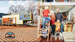 Family Of 4 Move Into Their Gorgeous 3 Bedroom 5th Wheel DIY Tiny House
