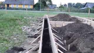 Монтаж деревянной опалубки ленточного фундамента