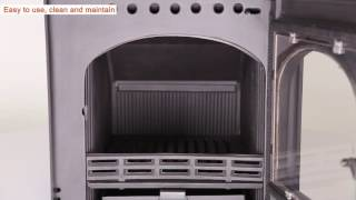 Titan Inset Multifuel Woodburning Stove - 5kW - Woodburnerworl…