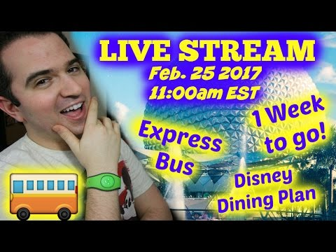 LIVE Q&A - 1 Week to GO, Express Bus Service, Disney Dining Plan, etc