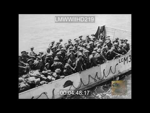 INVASION WWII, VARIOUS SCENES OF INVASION...