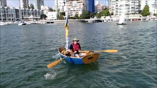 """Feather, Tender To """"odin"""" Departs The 2014 Vancouver Wooden Boat Festival."""