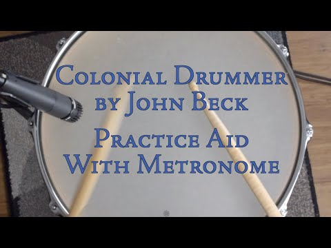 Colonial Drummer by John Beck practice aid with metronome multiple tempos
